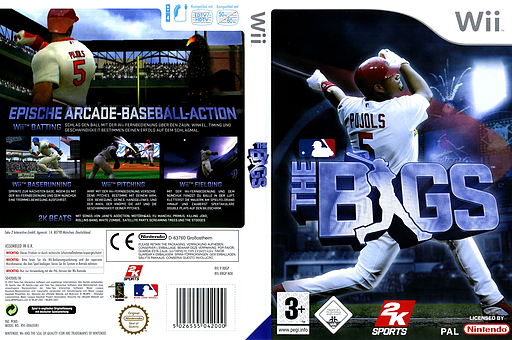 The Bigs - Baseball Wii cover (RBGP54)