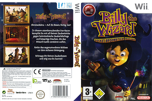 Billy the Wizard: Rocket Broomstick Racing Wii cover (RBZPUG)