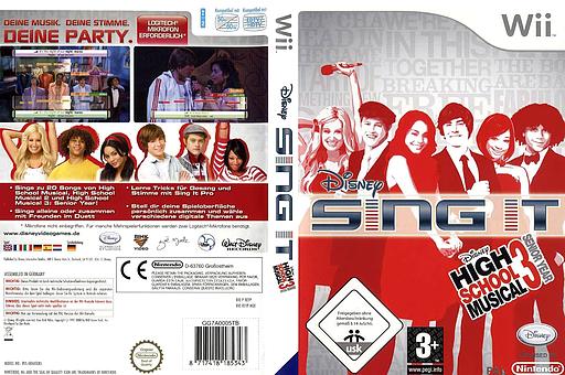 Disney Sing It: High School Musical 3 Wii cover (REYX4Q)