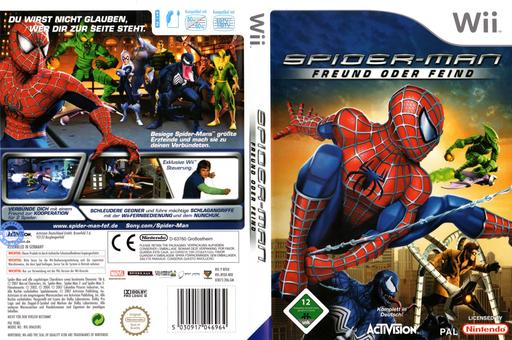 Spider-Man: Freund oder Feind Wii cover (RFOX52)