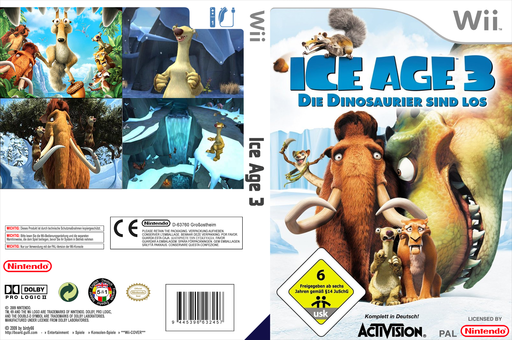 Ice Age 3: Dawn of the Dinosaurs Wii cover (RIAI52)