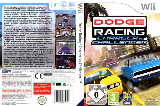 Dodge Racing: Charger vs Challenger Wii cover (RIXP7J)