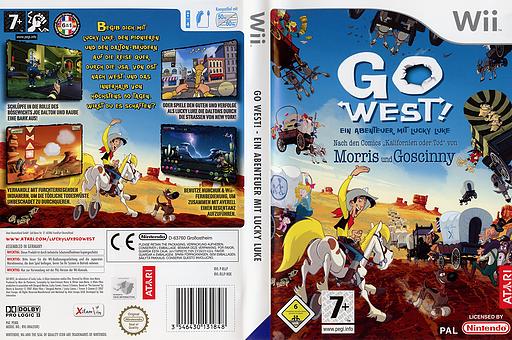Go West!: Ein Abenteuer mit Lucky Luke Wii cover (RLLP70)