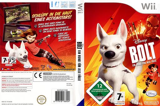 Bolt: Ein Hund für alle Fälle! Wii cover (RLUX4Q)