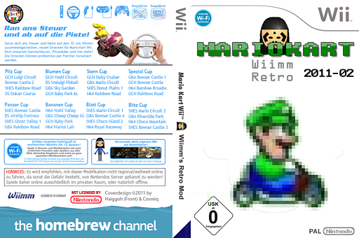 Wiimms MKW Retro 2011-02.pal CUSTOM cover (RMCP07)