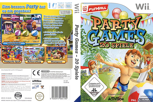 Party Games: 20 Spiele Wii cover (RRTP52)