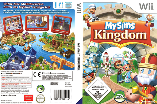 MySims Kingdom Wii cover (RSHP69)