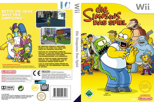 Die Simpsons: Das Spiel Wii cover (RSND69)