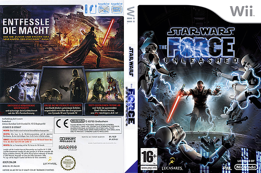 Star Wars: The Force Unleashed Wii cover (RSTP64)