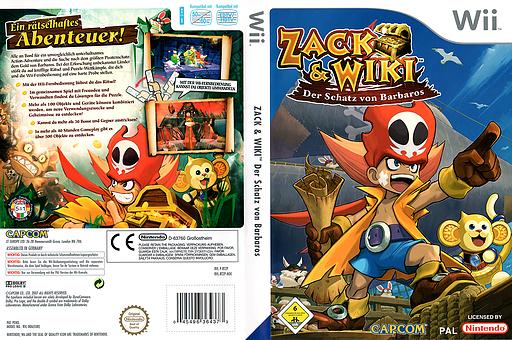 Zack & Wiki: Der Schatz von Barbaros Wii cover (RTZP08)