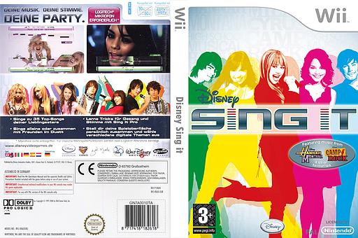 Disney Sing It Wii cover (RUIP4Q)