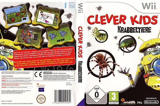 Clever Kids: Krabbeltiere Wii cover (RV3P6N)