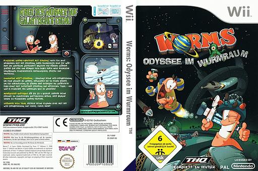 Worms: Odyssee im Wurmraum Wii cover (RWMP78)