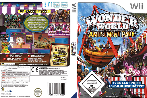 Wonder World Amusement Park Wii cover (RWZX5G)
