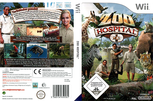 Zoo Hospital Wii cover (RZHX5G)