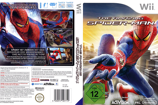 The Amazing Spider-Man Wii cover (SAZP52)