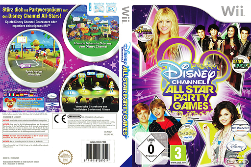 Disney Channel: All Star Party Games Wii cover (SDGP4Q)