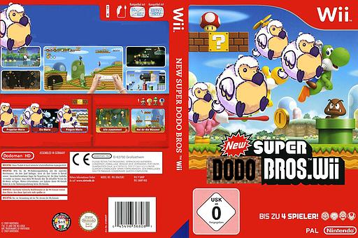 New SUPER DODO BROS wii CUSTOM cover (SDNP01)