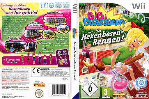 Bibi Blocksberg: Das große Hexenbesen-Rennen! Wii cover (SGWD7K)
