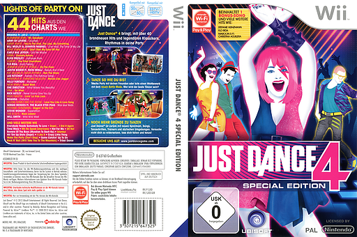 Just Dance 4 Special Edition Wii cover (SJXD41)