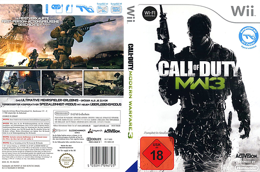 Call of Duty: Modern Warfare 3 Wii cover (SM8P52)