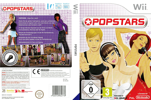 Popstars Wii cover (SP6DSV)