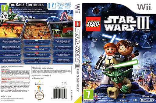 LEGO Star Wars III:The Clone Wars Wii cover (SC4P64)