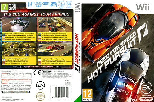 Need for Speed: Hot Pursuit Wii cover (SNHP69)