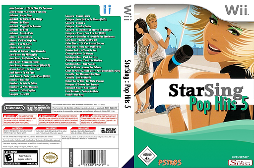 StarSing : Pop Hits 5 v2.0 CUSTOM cover (CSEP00)