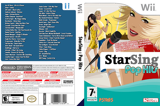 StarSing : Pop Hits v2.0 CUSTOM cover (CTKP00)
