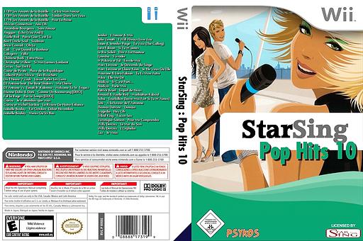 StarSing:Pop Hits 10 v2.0 CUSTOM cover (CTNP00)