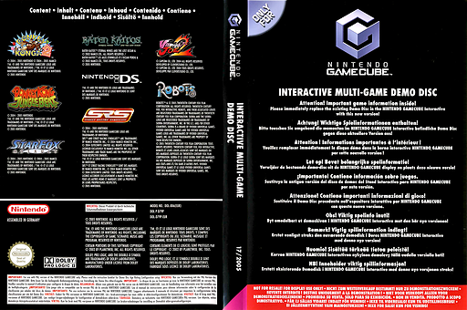 Interactive Multi-Game Demo Disc - May 2005 GameCube cover (D79P01)