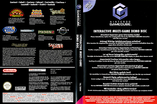 Interactive Multi-Game Demo Disc - November 2004 GameCube cover (D84P01)