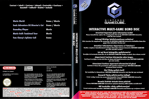 Interactive Multi-Game Demo Disc - June 2003 GameCube cover (D92P01)
