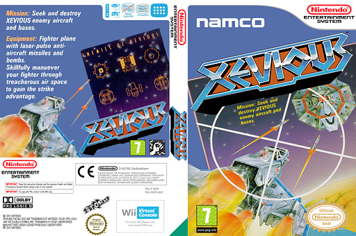 Xevious VC-NES cover (FASP)