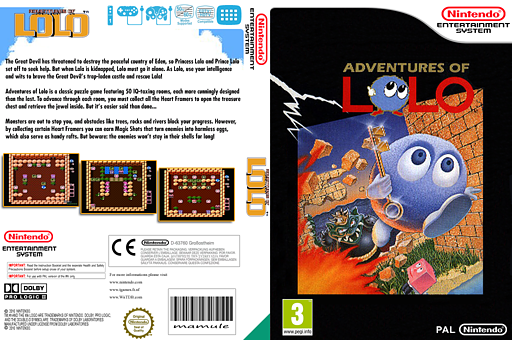 Adventures of Lolo VC-NES cover (FBUP)