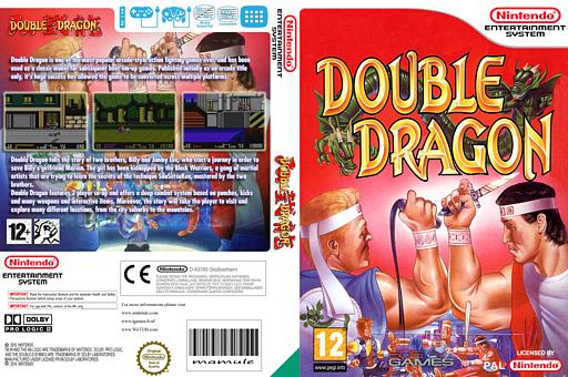 Double Dragon VC-NES cover (FD2P)