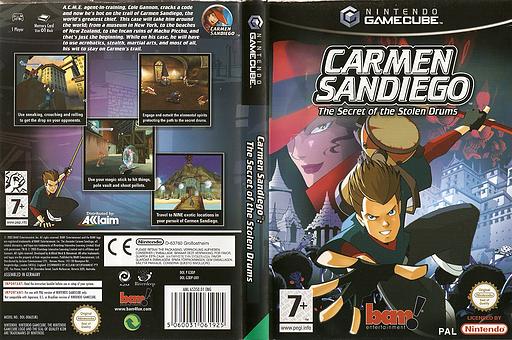 Carmen Sandiego: The Secret of the Stolen Drums GameCube cover (G3DP6L)