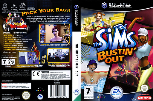 The Sims: Bustin' Out GameCube cover (G4MP69)