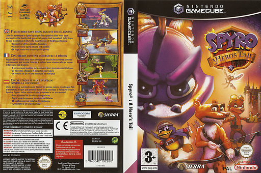 Spyro: A Hero's Tail GameCube cover (G5SP7D)
