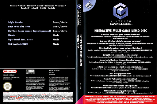 Interactive Multi-Game Demo Disc - March 2002 GameCube cover (G99P01)
