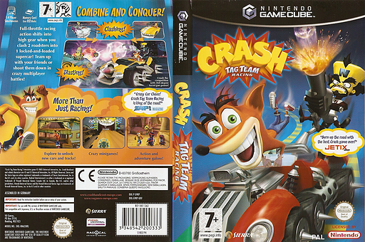 Crash Tag Team Racing GameCube cover (G9RP7D)