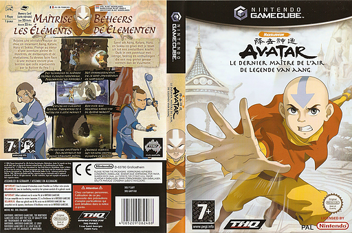 Avatar: The Legend of Aang GameCube cover (GAVY78)