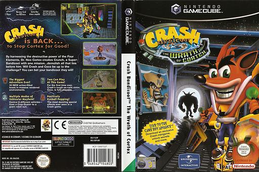 Crash Bandicoot: The Wrath of Cortex GameCube cover (GCBP7D)