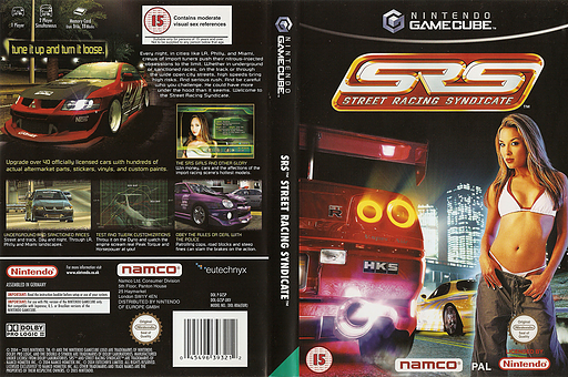 Street Racing Syndicate GameCube cover (GCSPAF)