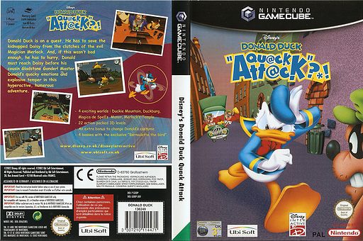 Disney's Donald Duck: Qu@ck Att@ck GameCube cover (GDDP41)