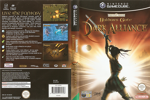 Baldur's Gate Dark Alliance GameCube cover (GDEP71)