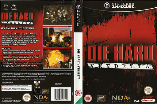 Die Hard: Vendetta GameCube cover (GDIP7D)