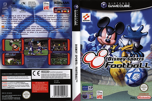 Disney Sports: Football GameCube cover (GDKPA4)