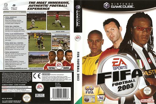 FIFA Football 2003 GameCube cover (GFAP69)